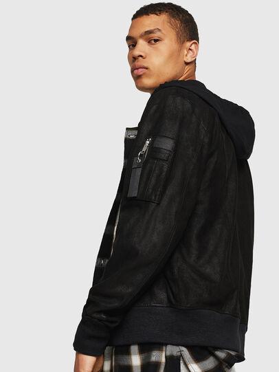 Diesel - L-NIKOLAI, Black - Leather jackets - Image 3