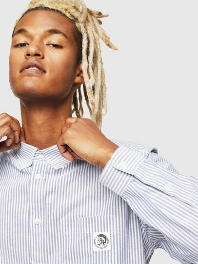 Diesel - S-JAMES-A, Blue/White - Shirts - Image 4