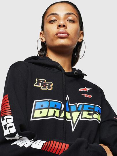 Diesel - ASTARS-F-GIR-HOOD-FL, Black - Sweaters - Image 5