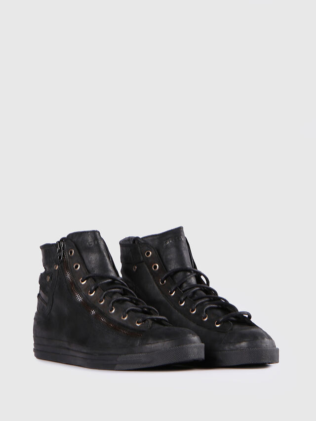Diesel - EXPO-ZIP, Black Leather - Sneakers - Image 2