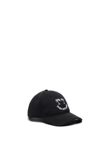 Baseball cap with palm embroidery