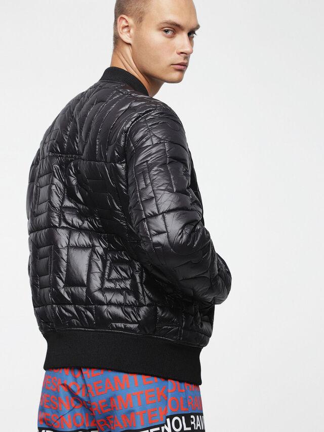 Diesel - W-ALL, Bright Black - Winter Jackets - Image 2