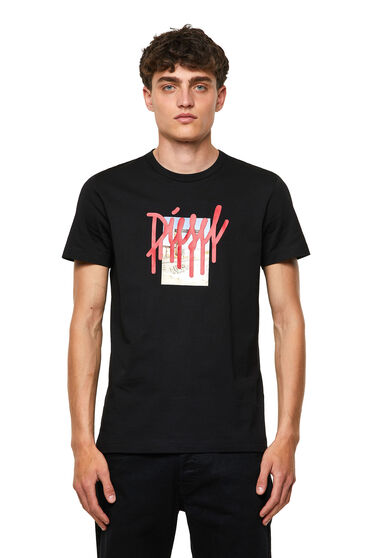 T-shirt with drip logo