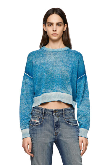 Pullover with treated effect