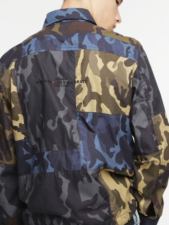 Diesel - J-SYNTHY, Green Camouflage - Jackets - Image 2