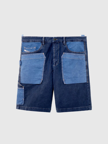 Utility shorts in patchwork JoggJeans®