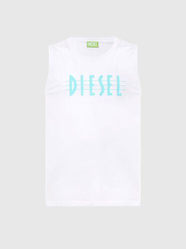 Green Label tank top with logo print