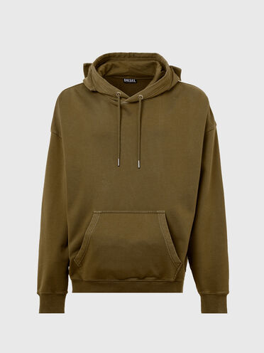 Pigment-dyed hoodie with utility pockets