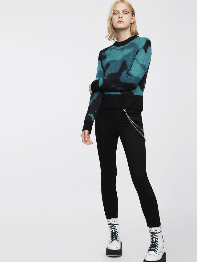 Diesel - M-PIC, Blue/Black - Knitwear - Image 4