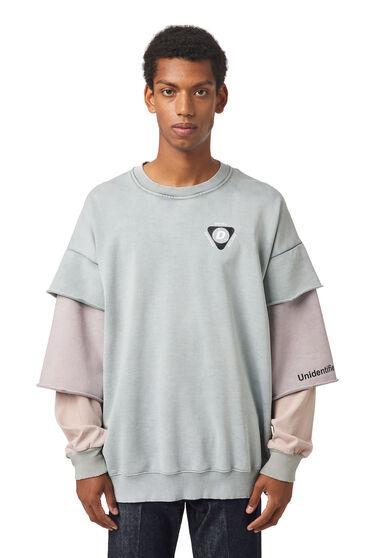 Sweatshirt with layered sleeves