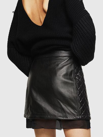Diesel - OLESIA, Black - Leather skirts - Image 2