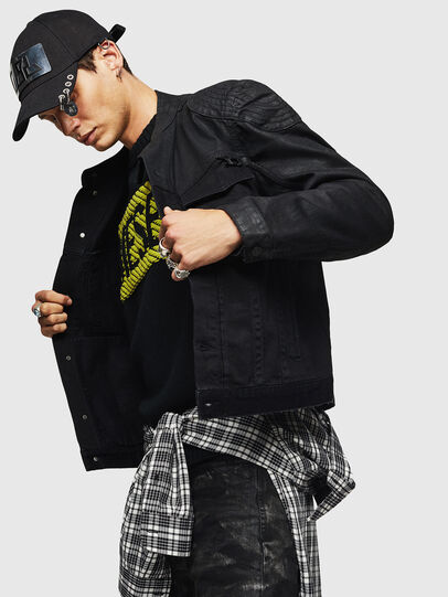 Diesel - D-DANY, Black/Dark grey - Denim Jackets - Image 6