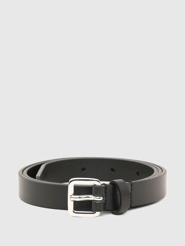 Slim belt in faux leather