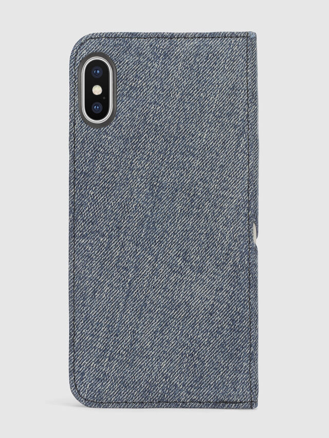 Diesel - DENIM IPHONE X FOLIO, Blue Jeans - Flip covers - Image 3