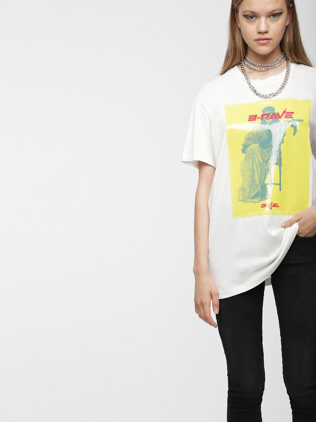 Diesel - T-DARIA-C, White - T-Shirts - Image 1