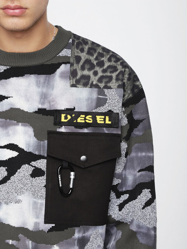 Diesel K-CAMOU-E, Military Green - Knitwear - Image 3