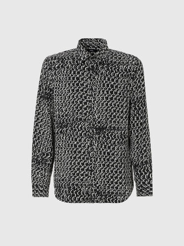 Lyocell shirt with chain print