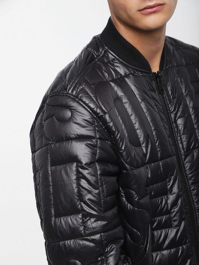 Diesel - W-ALL, Bright Black - Winter Jackets - Image 3