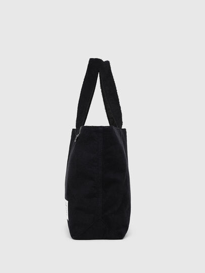 Diesel - D-THISBAG SHOPPER L, Black - Shopping and Shoulder Bags - Image 3