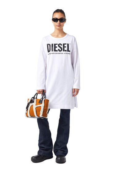 Green Label T-shirt dress with logo