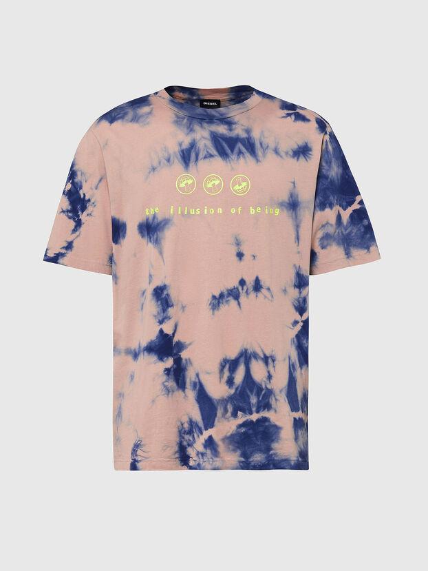 T-JUST-SLITS-X86, Pink/Blue - T-Shirts