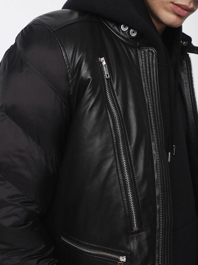 Diesel - L-WINTER, Black - Leather jackets - Image 3