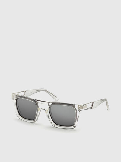 Diesel - DL0250, White - Sunglasses - Image 4