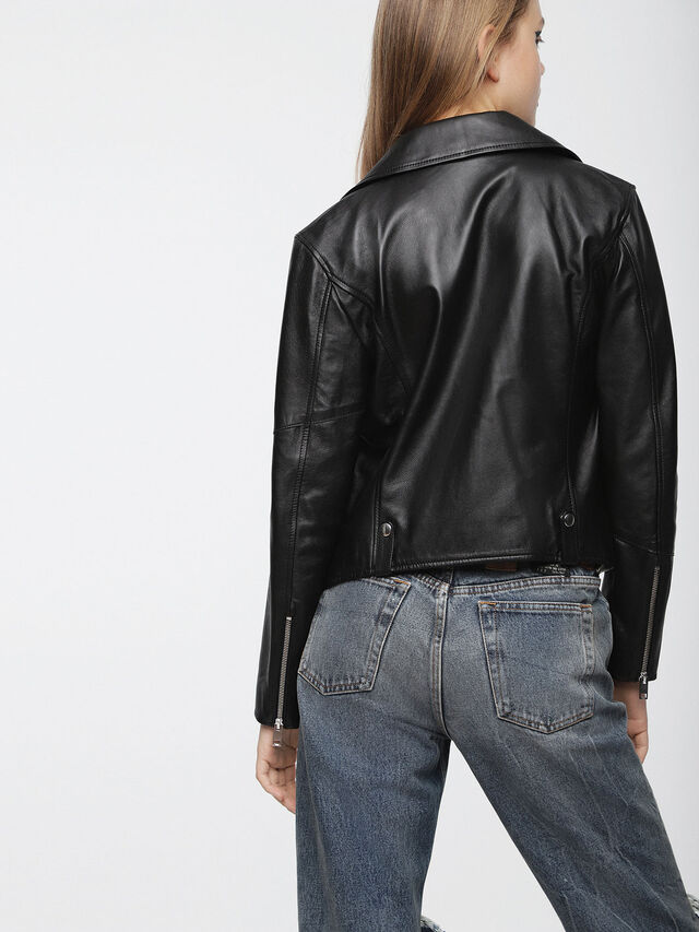 Diesel - L-LYF, Black Leather - Leather jackets - Image 2