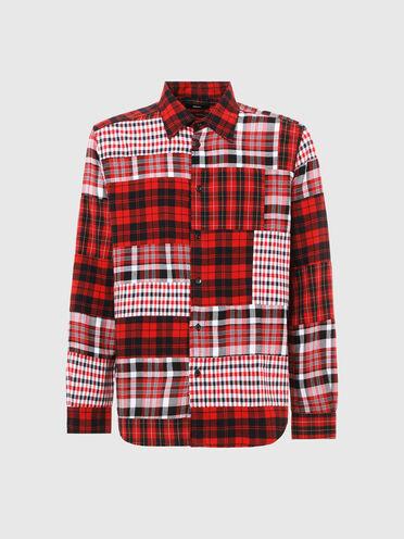 Patchwork check shirt