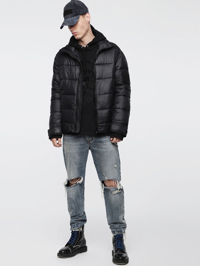 Diesel - W-SMITH-A-WH, Black - Winter Jackets - Image 6