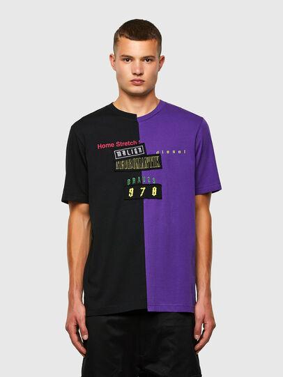 Diesel - T-JUBBLE-N1, Black/Blue - T-Shirts - Image 1