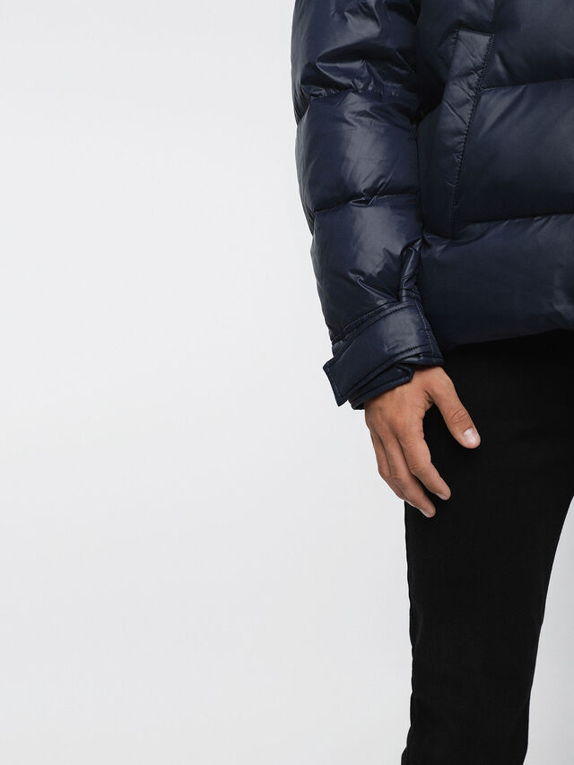 Diesel - W-SMITH-A, Blue - Winter Jackets - Image 4