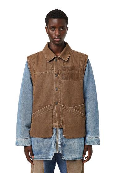 Reversible jacket with detachable vest