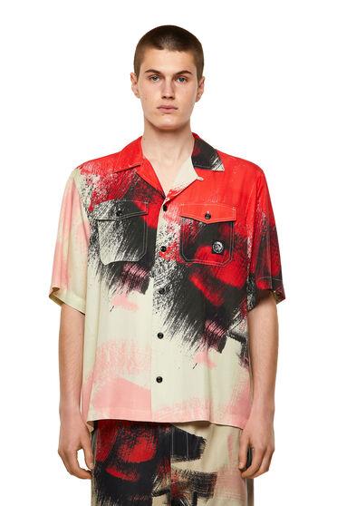 Printed shirt in lyocell