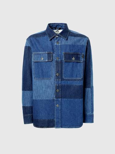 Patchwork shirt in denim