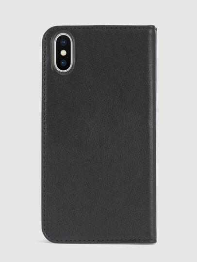 Diesel - BLACK DENIM/STUD/ZIPPER IPHONE X FOLIO,  - Flip covers - Image 3