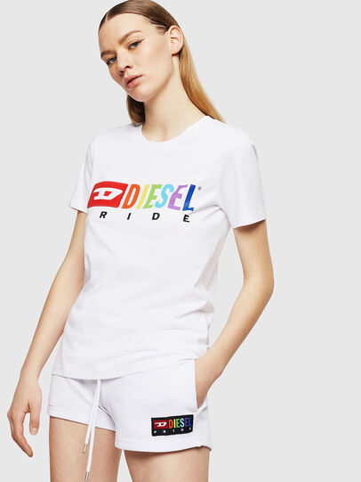 Diesel - UFTEE-SILY-INT, White - T-Shirts - Image 1
