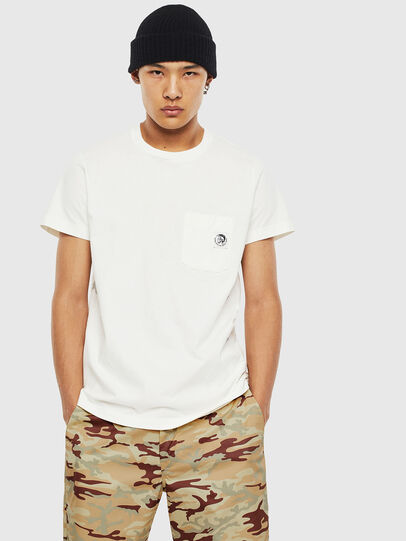 Diesel - T-WORKY-MOHI-S1, White - T-Shirts - Image 1
