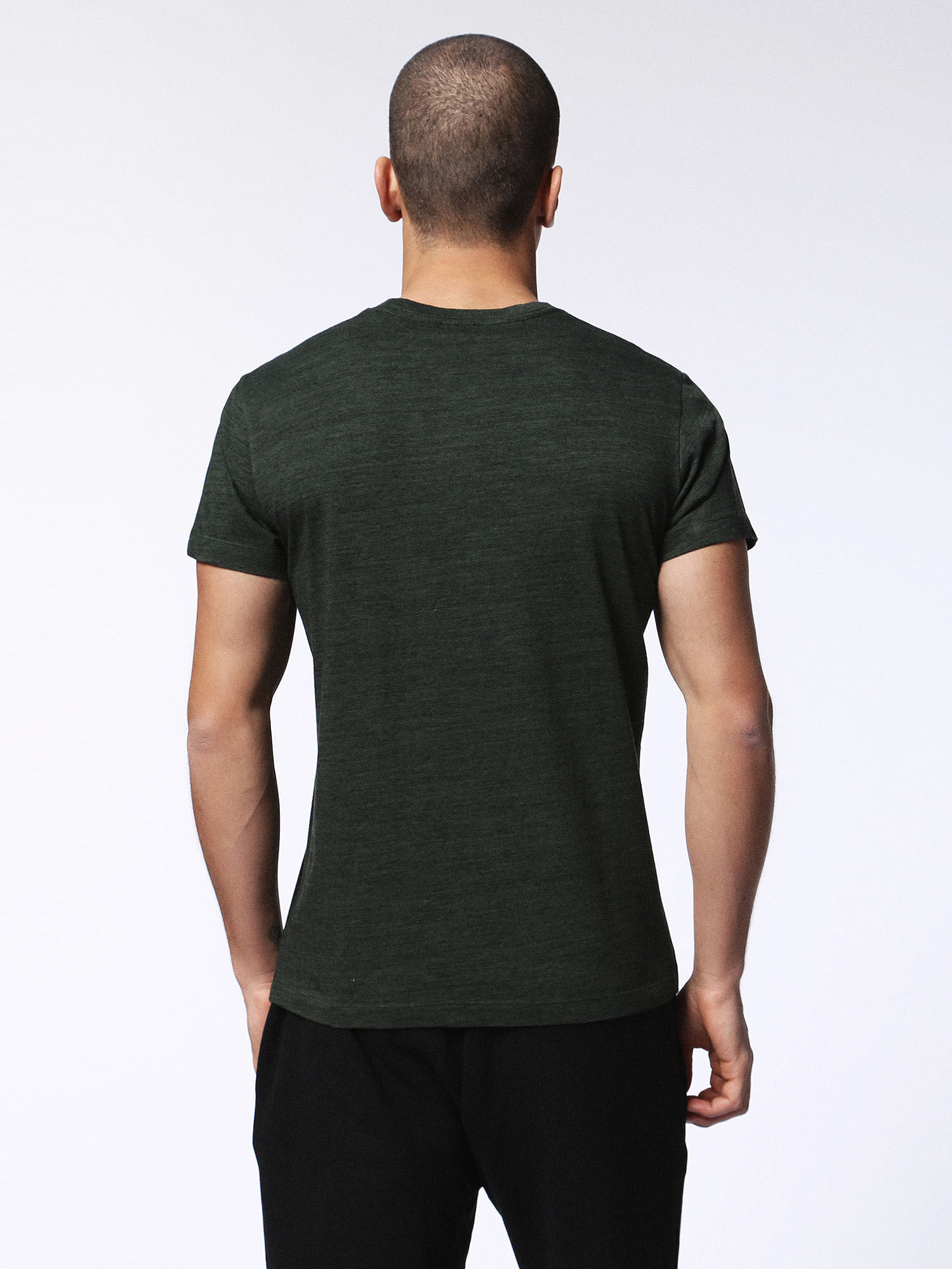 00SN1L0GAOB T-Shirts Man T-SIRIO by Diesel Dark green