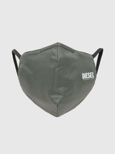 Diesel - FACEMASK-PLAIN-SS21, Military Green - Other Accessories - Image 1