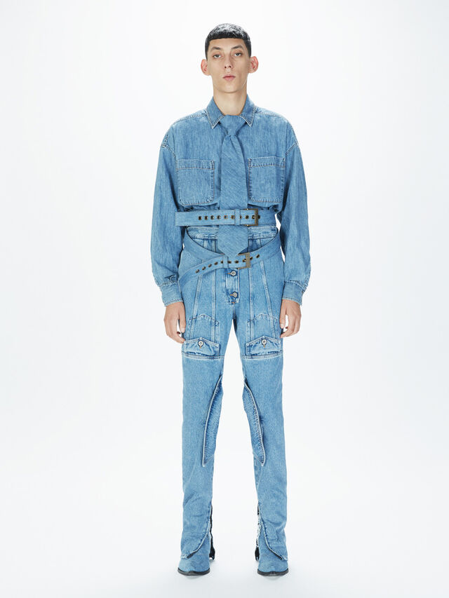 Diesel - SOTS01, Light Blue - Shirts - Image 5
