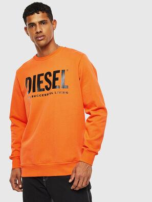 S-GIR-DIVISION-LOGO, Orange - Sweaters