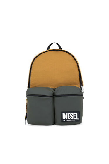 Backpack in recycled and coated fabrics