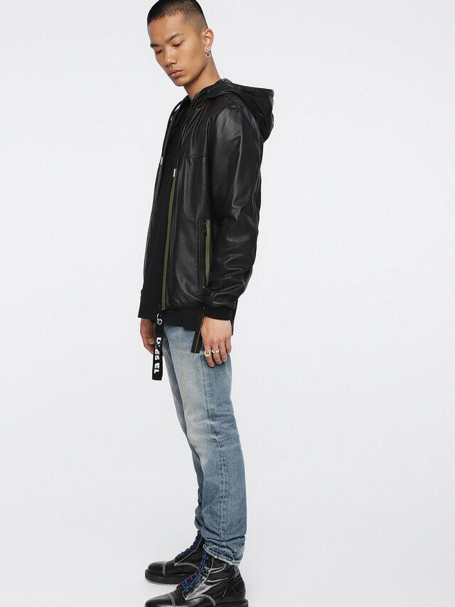 Diesel - L-TECH, Black - Leather jackets - Image 6