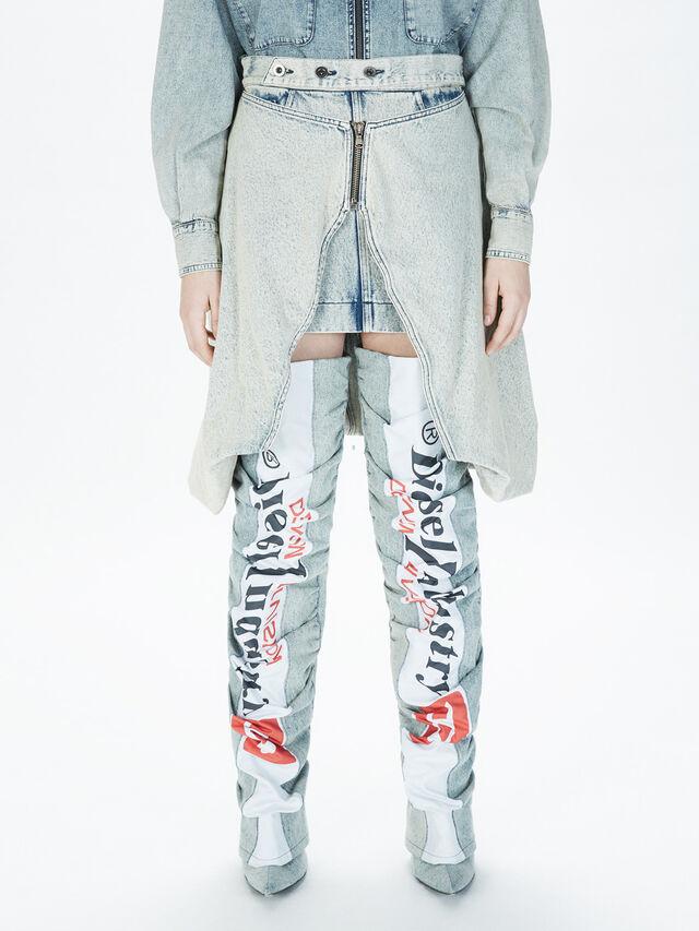 Diesel - SOBS01, Grey Jeans - Skirts - Image 3