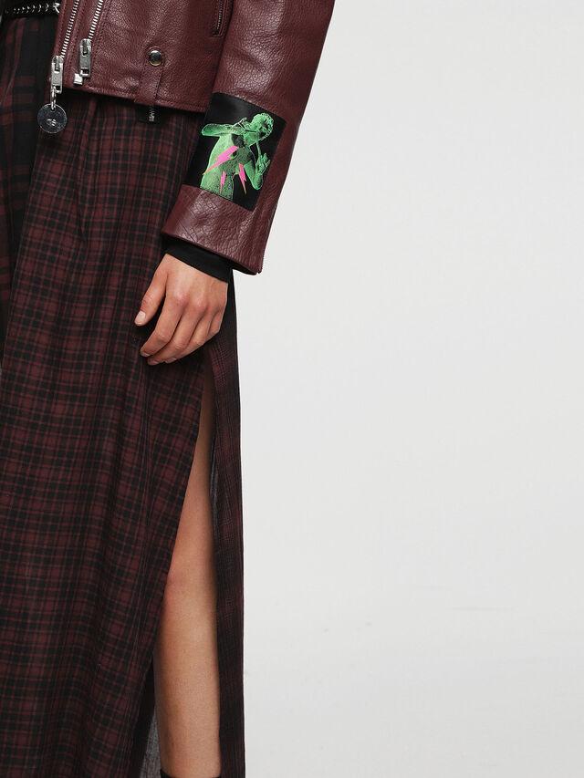 Diesel - L-AIMEE, Burgundy - Leather jackets - Image 3