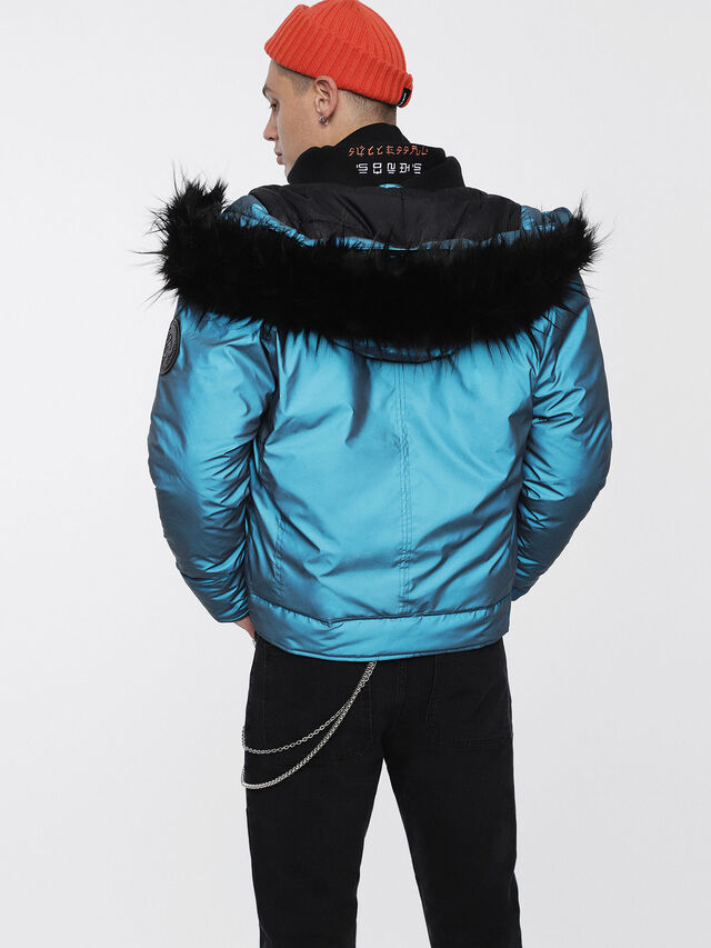Diesel - W-CODY, Azure - Winter Jackets - Image 2