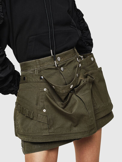 Diesel - O-LADEL, Military Green - Skirts - Image 5