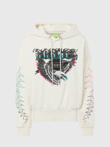 Green Label hoodie with eagle print