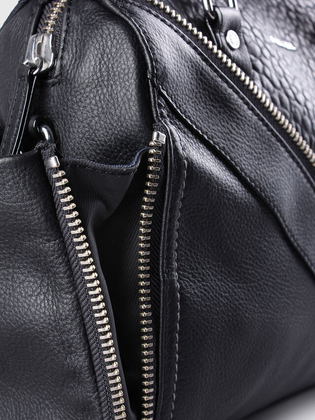 Diesel - LE-TRASY, Black Leather - Satchels and Handbags - Image 4